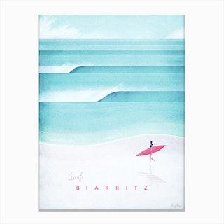 Visit Biarritz Canvas Print