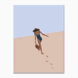Beach Babe Canvas Print