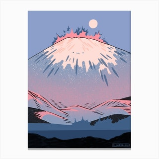 Moon Fuji Canvas Print