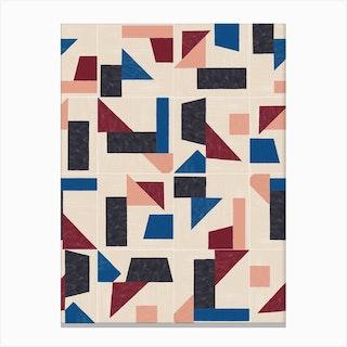 Tangram Wall Tiles 03 Canvas Print