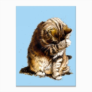 Small Fry The Cat Canvas Print