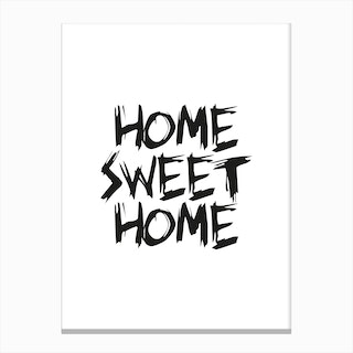 Home Sweet Home (White) Canvas Print