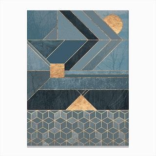 Nordic Blue Canvas Print