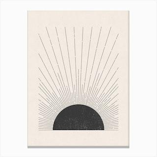The Sun Blockprint Canvas Print