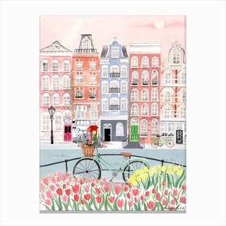 Amsterdam Spring Bloom Canvas Print