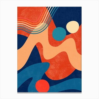 Retro Waves 3 Canvas Print