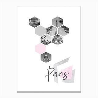 Urban Design Paris Pink Canvas Print