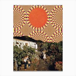 Auntie Orange Canvas Print