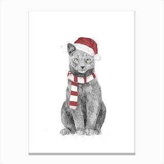 Xmas Cat Canvas Print