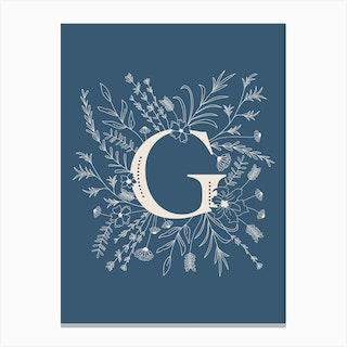 Botanical Letter G Canvas Print
