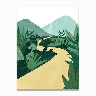 Tropical Jungle Path Canvas Print