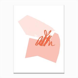 Abstract Pink Shapes Canvas Print