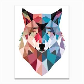Geo Wolf Canvas Print