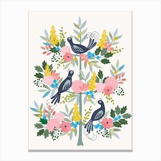 Tree Of Life Birds Canvas Print