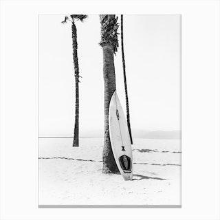 Surf Bw Canvas Print