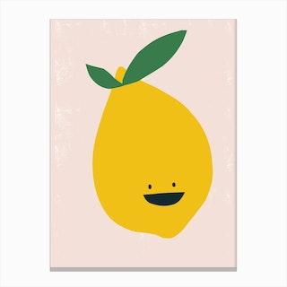 Lemon Kitchen Canvas Print