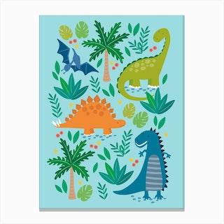 Dino Land Canvas Print