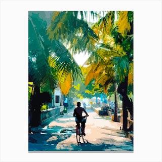 Bike In Paradise Canvas Print