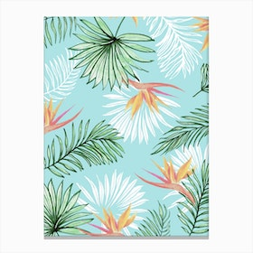 Tropic Palm In Canvas Print