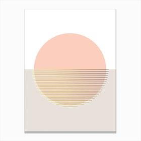 Peachy Skies Canvas Print