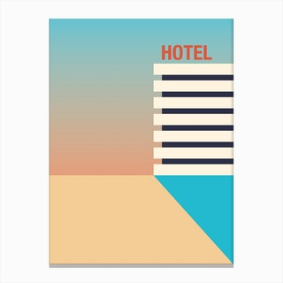 Hotel Sunrise Canvas Print