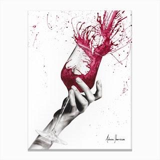 Wine Twirl Canvas Print