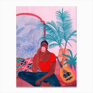 Pink Morocco Canvas Print