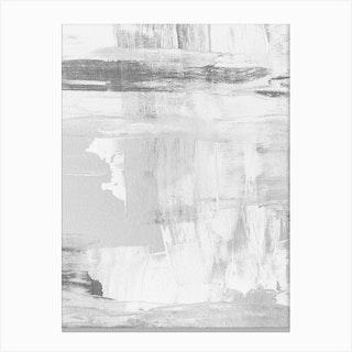 Baby Grey Abstract Canvas Print
