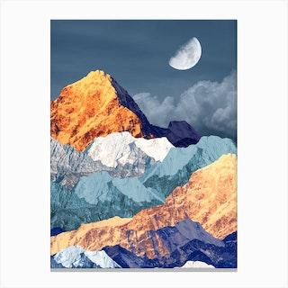 When Men And Mountains Meet Canvas Print