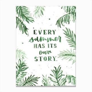 Summer Story Canvas Print