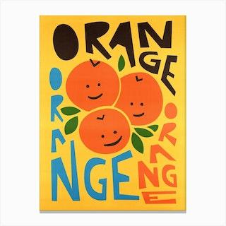 Happy Oranges Canvas Print