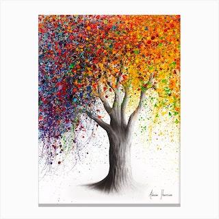 Superb Season Tree Canvas Print