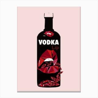 Vodka Lip Canvas Print