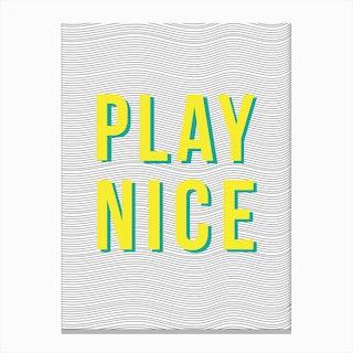 Play Nice Canvas Print