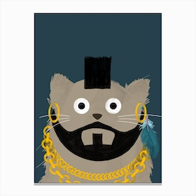 Cat Mr T Canvas Print