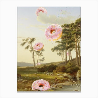 Cloudy With A Chance Of Donuts Canvas Print