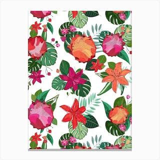Protea Lily Tropical Canvas Print
