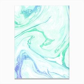 Green Apple and Cream Canvas Print