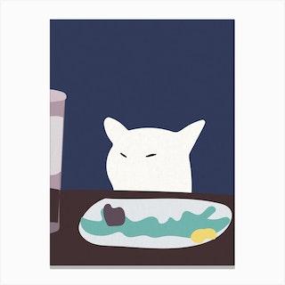 Smudge The Cat Meme Canvas Print
