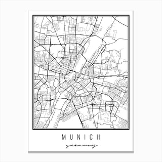 Munich Germany Street Map Canvas Print