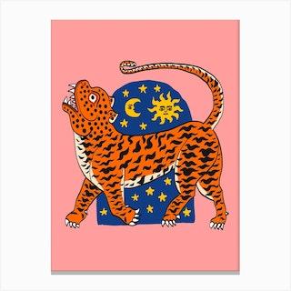 Tiger Magic Door Canvas Print