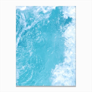 The Surf In Canvas Print