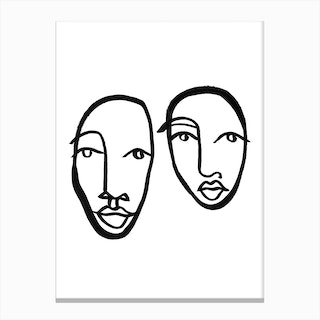 Faces 10 Canvas Print