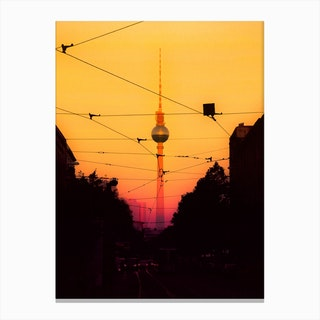 Berlin Sunset Canvas Print