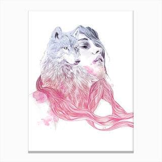 A Wolf In Girls Clothing Canvas Print