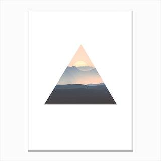 Triangle Sunrise Canvas Print