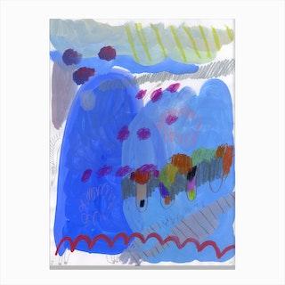 Blue Horsy Canvas Print