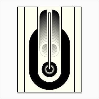 Black Abstract Geometric Canvas Print
