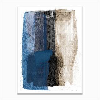 Blue On Black Canvas Print