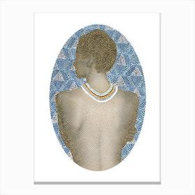 Noise Woman Canvas Print